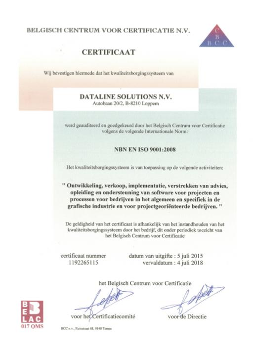 Dataline Solutions ISO