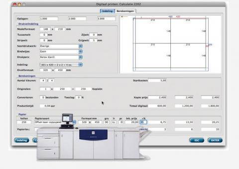 MultiPress Digital print calculation